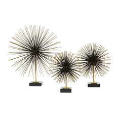 Global Views Boom Tabletop Sculpture, Brass, Medium