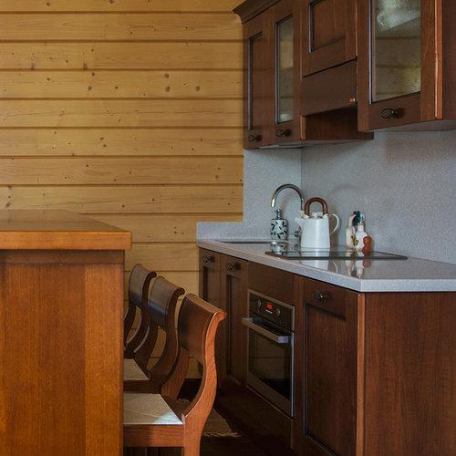 foto de saln con barra de bar tipo loft de estilo de casa de campo