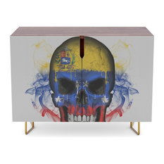 "Society6 - Society6 Credenza, Walnut, Steel, 30"", To The Core Collection: Venezuela - Buffets and Sideboards"
