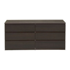 Atlin Designs 6 Drawer Double Dresser In Coffee