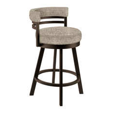 "Baja 26"" Counter Height Swivel Barstool, Performance Fabric, Capuccino"