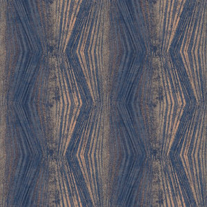 Boutique Vermeil Stripe Wallpaper, Blue, Roll