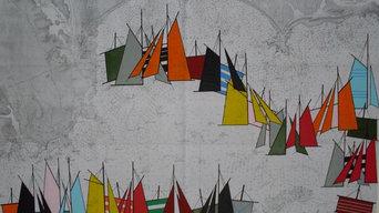 Les Voiles d'Eliot Nyls sur carte marine