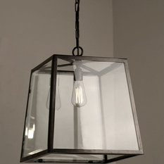 - The Norfolk Collection - Large Tapered Box Lantern - Outdoor Hanging Lights