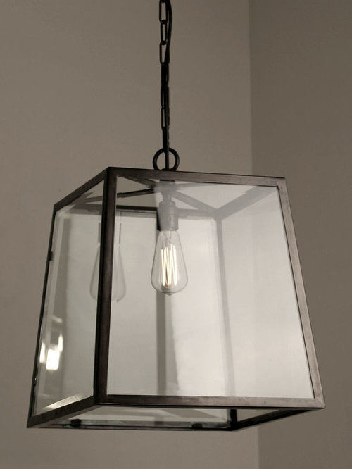 The Norfolk Collection Large Tapered Box Lantern Outdoor Hanging Lights