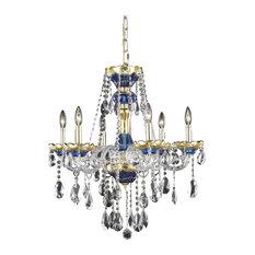 Elegant Cut Clear Crystal Alexandria 6-Light