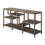 Mercana Modern Console Table, Brown