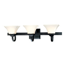 Minka Lavery Agilis Black 3 Light Vanity