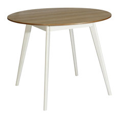 Boston Round Dining Table, Natural and White