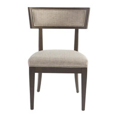 Soliloquy Ambrose Upholstered Dining Chair Set Of Two In Cocoa Brown