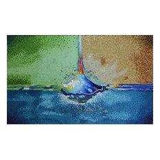 "Mozaico - Glass Modern Mosaic, Nonpictorial, 61""x102"" - Tile Murals"