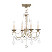Pennington Convertible Chain-Hang and Ceiling Mount, Antique Silver Leaf