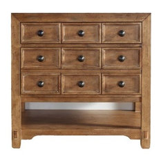 "35"" Malibu Single Sink Cabinet Only Without Top, Honey Alder"