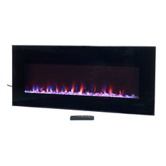 """Northwest - Wall-Mounted Electric Fireplace With Remote, LED Fire and Ice Flame, 42"""" - Indoor Fireplaces"""