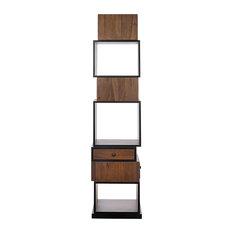 Noir Walnut Bookcase With Dark Walnut Finish GBCS186DW