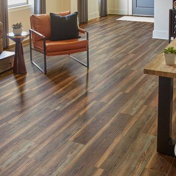 Boho, Eclectic Home Office - Summit Stockbridge Cayenne, Waterproof Flooring
