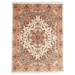 Tabriz 50Raj Rug, Persian Carpet Hand-Knotted, 200x147 cm