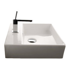 """Unlimited 46 Wall Mount Sink 18.3"""", With Faucet Holes"""