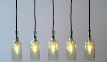 "Vintage Flaschenlampe Hängelampe ""Lampada cinque"""