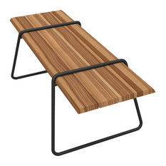 Clipboard Table, Black, Cumaru Wood, Garden Furniture