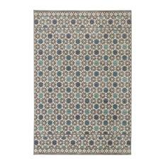 Lattice Tiles Grey Rug, 8'x10'