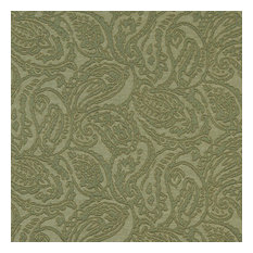 Green Traditional Paisley Woven Matelasse Upholstery Grade Fabric By The Yard