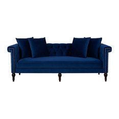1st Avenue - Arla Sofa, Blue Velvet - Sofas