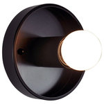 Urban Chandy - Black Mason Wall Sconce, Black, 1 Modern Bulb - Make a modern statement with this black wall sconce! Install this beauty on your wall or ceiling.