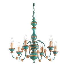 Ideal Lux Pisa 6-Light Chandelier, Blue