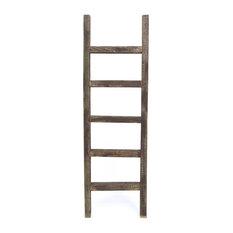 Reclaimed Wooden Ladder Decor, Brown