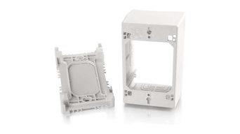 Wiremold Uniduct 1Gang Xtradeep Jbox, White