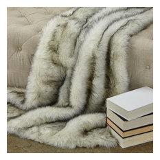 Plutus Polar Bear Faux Fur Luxury Throw