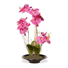 Pink Orchid Flowers Artificial, 17""