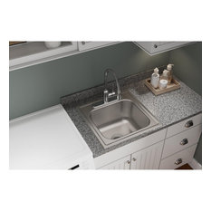 "DPC12020102 Dayton Stainless Steel 20"" x 20"" Drop-in Laundry Sink"