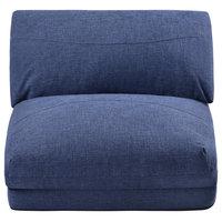 Floor Gaming Sofa Chair Fabric Folding Chaise Lounge, 28