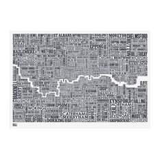 50 most popular prints and posters for 2018 houzz bold noble london and beyond type map 70x50 cm prints posters gumiabroncs Images