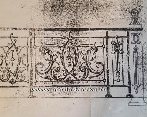 Эскизы кованых перил, ограждений лестниц и балконов - коллекция эскизов - Заборы и ворота