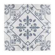 "SomerTile 17.63""x17.63"" Atlantic Ceramic Floor and Wall Tile, Azul, Case of 7"