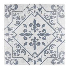"SomerTile 17.63""x17.63"" Atlantic Ceramic Floor and Wall Tile, Azul, Case of 7"