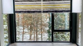 Water colour designer roller blinds