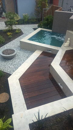 10 Outdoor Banquettes Create Fresh-air Seating With Style 15 Designs Wasserfall Swimming Pool
