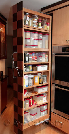 Cabinet that opens from side