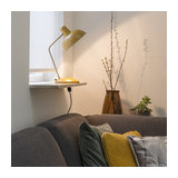 Modern Table Lamp Yellow with Bronze - Milou