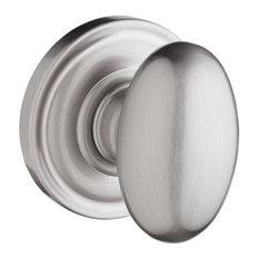 Privacy Ellipse Knob/Round Rose, Satin Nickel