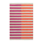 surya frontier ft565 hot pink coral light gray area rug