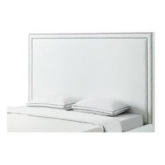 Bay Stark Headboard White Leather Polyurethane Queen Headboards