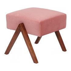 Retrostar Footstool, Pink