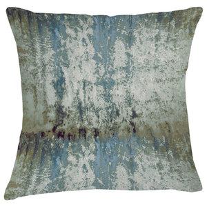 Mineral Velvet Cushion, Blue and Green