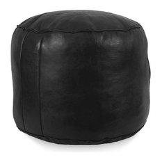 Tabouret Fez Stuffed Pouf, Black
