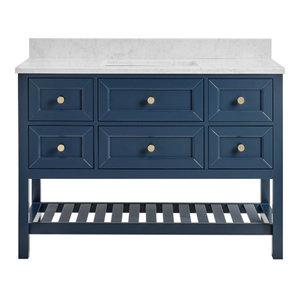 Elma Midnight Blue Bathroom Vanity, 48